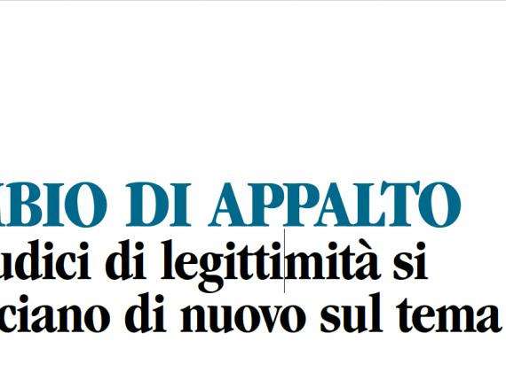 Cass. Sez. Lav. 20 novembre 2018, n. 29922 .  CAMBIO DI APPALTO -I Giudici di legittimità si pronunciano di nuovo sul tema.